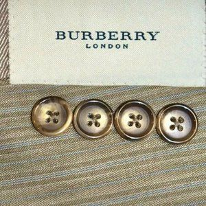 NWT 42S Burberry London Tan Blue Striped SUIT
